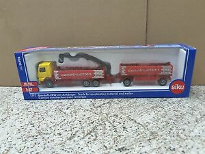 Siku 1/87 Die Cast Truck for Construction Material and Trailer