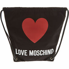 Genuine LOVE MOSCHINO Nero Borsa in Nylon Coulisse Borsa/Zaino