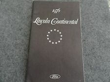 1976 Lincoln Continental  Owners Manual