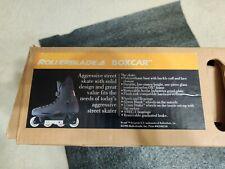Vintage Boxcar Street Inline Roller Blades Size 13.0 Black Noir