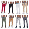 Mens True Rock Slim Fit Stretch Belted Chino Pants Fashion Casual NEW