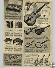 1966 PAPER AD Toy Guitar Woody Woodpecker Bugs Bunny Porky Pig Roy Rogers