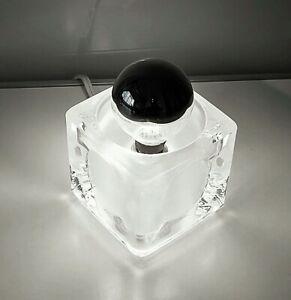 Mid Century ICE CUBE Mini Glas Tischleuchte Lampe Peill & Putzler Panton ära