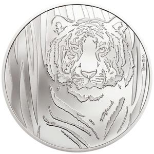 Mongolei - 250 Togrog 2019 - Hidden Tiger - in Blisterkarte - 1/2 Oz Silber PP