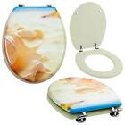 Grafner® WC Sitz Toilettensitz Klodeckel Toilettendeckel Deckel Brille MDF Holz