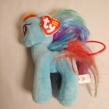 "TY MY LITTLE PONY Friendship is Magic RAINBOW DASH 7"" Plush STUFFED With Tag"