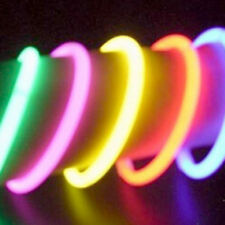 100x Glow Sticks Bracelets Necklaces Neon Colors Party Favors Disco Rave Rock