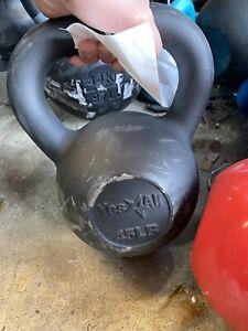 45 Lb Kettlebell Cast Iron Weight- FAST SHIPPING