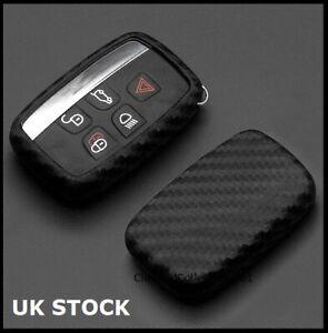 Carbon Fibre Key Cover For Range Rover Sport Vogue Evoque Velar 5 Button s45cf