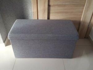 JD Williams & Company Seat Fabric Folding Storage Seat, Size 76 X 38 X 38cm