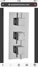 Vade Triple Outlet Square Concealed Shower Valve with Diverter