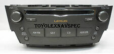 LEXUS IS250 IS350 SIX CD CHANGER RADIO XM SAT AM FM FOR HDD NAVIGATION 2010 2011