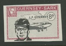 Guernsey SARK 1966 Kennedy 8d PROOF Ovpt SHIFT