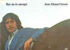 JOAN MANUEL SERRAT disco LP  made in SPAIN Res no es mesqui STAMPA SPAGNOLA 1977
