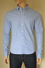 NEW Abercrombie & Fitch Kilburn Mountain Light Blue Stripe Shirt XL RRP £82