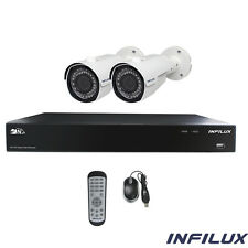 Infilux 4-Channel Hi-Def Indoor/Outdoor Security System- 2 IR 3.6mm Cameras