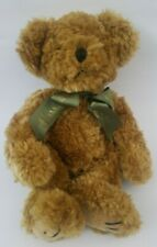 Harrods Teddy Bear Plush Stuffed Animal Green Gold Ribbon 14 inches