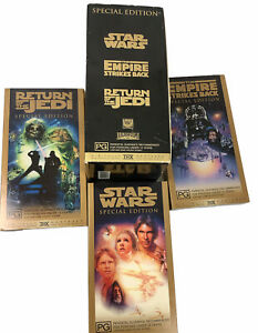 Lucas Flim The Star Wars Trilogy Special Edition Gold Boxed Set VHS