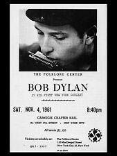 "Bob Dylan New York 1961 16"" x 12"" Photo Repro Concert Poster"
