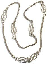 collier sautoir chaine serpent ronde déco ajouré couleur argent rodier * 5055
