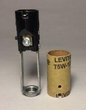 """NEW 3"""" Leviton Candelabra Base Keyless Chandelier Candle Lamp Holder Socket 209"""