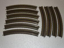 FLEISCHMANN PROFI ( 6120 ) LOT DE 10 RAILS COURBES R356,5  36°  MAILLECHORT HO