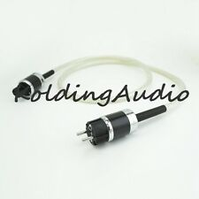 Viborg Audio Silver Hi-end Hifi Audio Power Cable Cord EU Plug 2m Furutech PLug