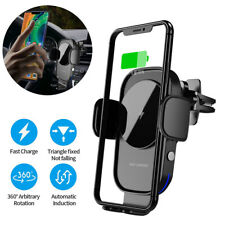 AU 15W Fast Qi Wireless Car Charger Auto Clamping Phone Holder Air Vent Mount