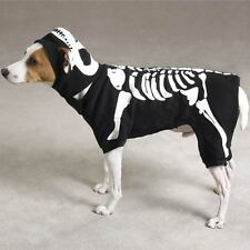 Glow Bones Black Dog Costume