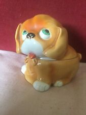 1930s Ceramic Jar and Cover in The Form of a Cute Bonzo Like Dog