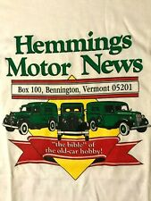 Vtg 80s 90s Hemmings Motor News Bennington Vermont T-Shirt Antique Classic Car