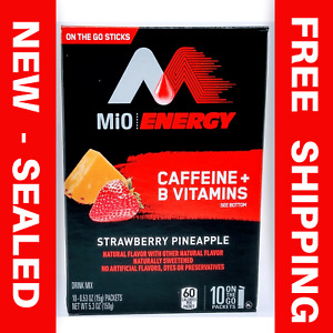 MiO Energy Strawberry Pineapple On The Go Drink Mix VEGAN KETO HEALTHY CAFFEINE