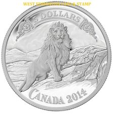 2014 $5 FINE SILVER COIN BANK NOTES SERIES: LION ON THE MOUNTAIN