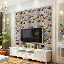 3D Wallpaper Brick Stone Rustic Effect Self-adhesive Wall Sticker Room Decor New