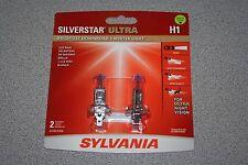 Sylvania Silverstar H1 ULTRA Pair Set High Performance Headlight 2 Bulbs NEW
