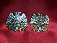 1990's 2 Serbia Military Officer Hat cap badge cockade Army on screw Yugoslavia