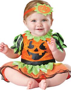 Infant Baby Girls Toddler Cute Pumpkin Princess First Halloween Costume