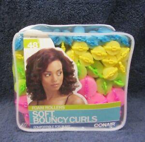 Conair Foam Soft Sponge Hair Rollers Curlers For Bouncy Curls # 61118Z - 48 Pack