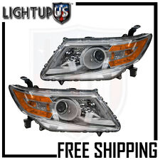 Headlights Headlamps Pair Left right set for 11-13 Honda Odyssey