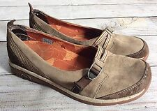 Chaco Shoes Size 8 Clara Brown Suede Flats Walking Comfort