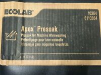 Case of 3 Ecolab Apex Presoak 6110364 Machine Warewashing 4lb Blocks