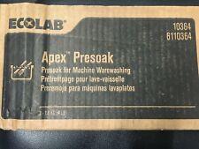 Lot of 6 Ecolab Apex Presoak 6110364 Machine Warewashing 4lb Blocks