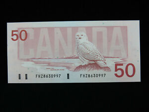1988 $50 Dollar Canada Replacement Banknote FHZ 8630997 Knight Dodge GEM UNC