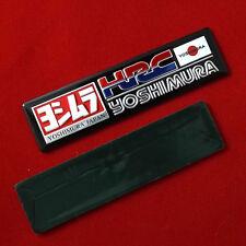 """3.1/4""""x1p. black hrc honda racing yoshimura metal aluminium decal sticker emboss"""