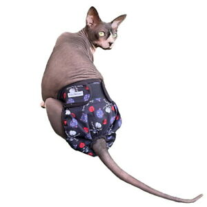 Skull Kitty Knickers Washable Cat Pants - Diaper Nappy Physiological Stud Undies