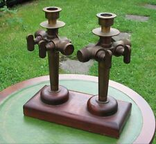 Old Beer Barrel Keg Taps candlestick holder - Harry Mason Veribest steam punk