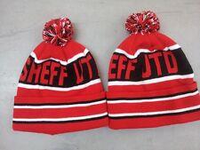 Sheffield United Fútbol Pom Pom Beanie Sombrero Lanudo Sombrero De Tejer POM POM Sombrero