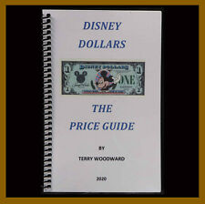 """Disney 1 5 10 50 Dollars Booklet, 1978-2014 """"The price Guide 2020"""" New"""