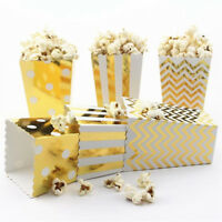 EG_ 12Pcs Mini Paper Popcorn Boxes Candy Snack Bags Birthday Party Supplies Sple