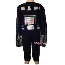 Star Wars Darth Vader Costume Halloween Outfit Fancy Party Dress Child 6-8 #049
